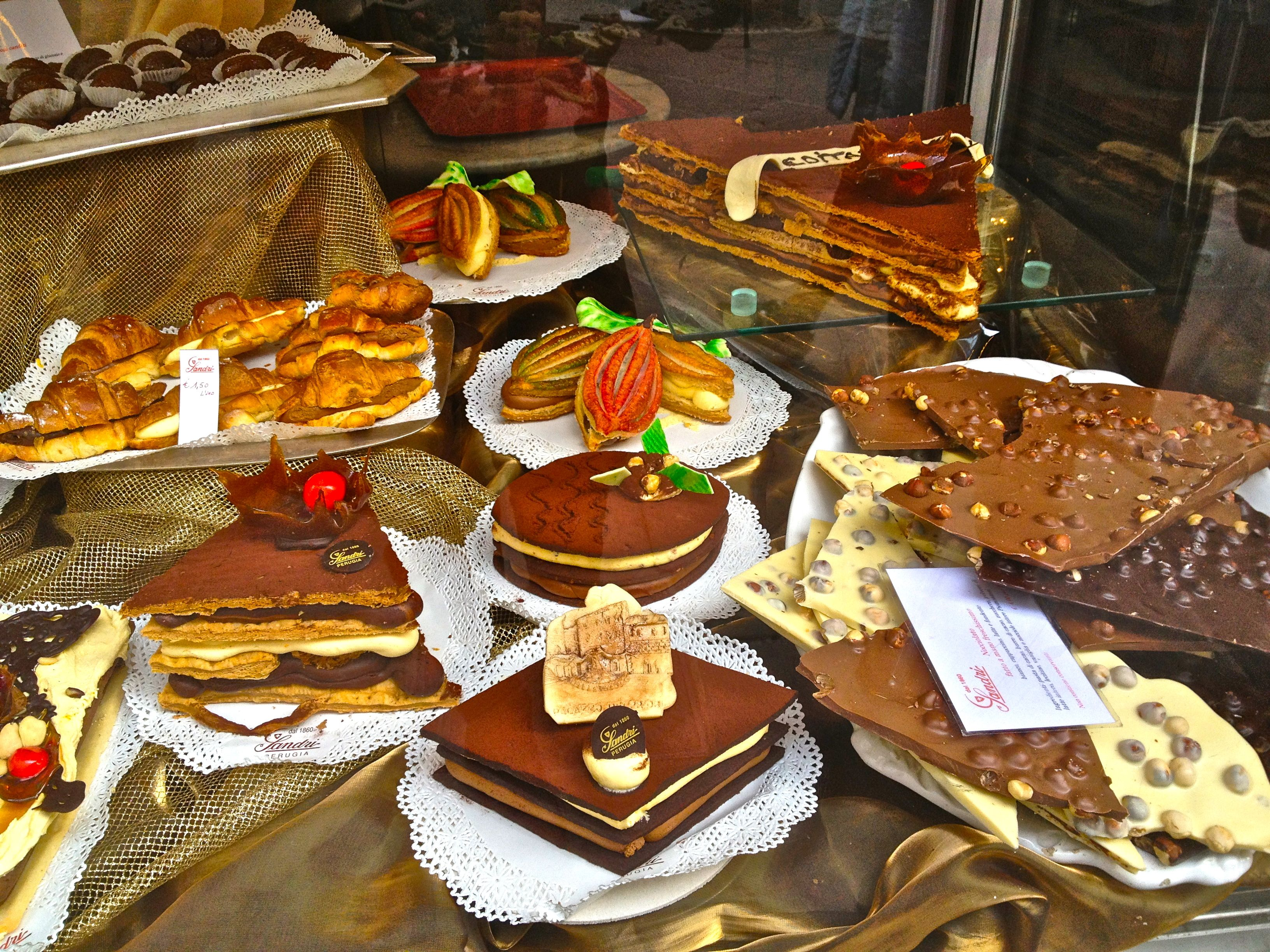 Perugia Chocolate Festival in Perugia, Italy on one of our stops ...