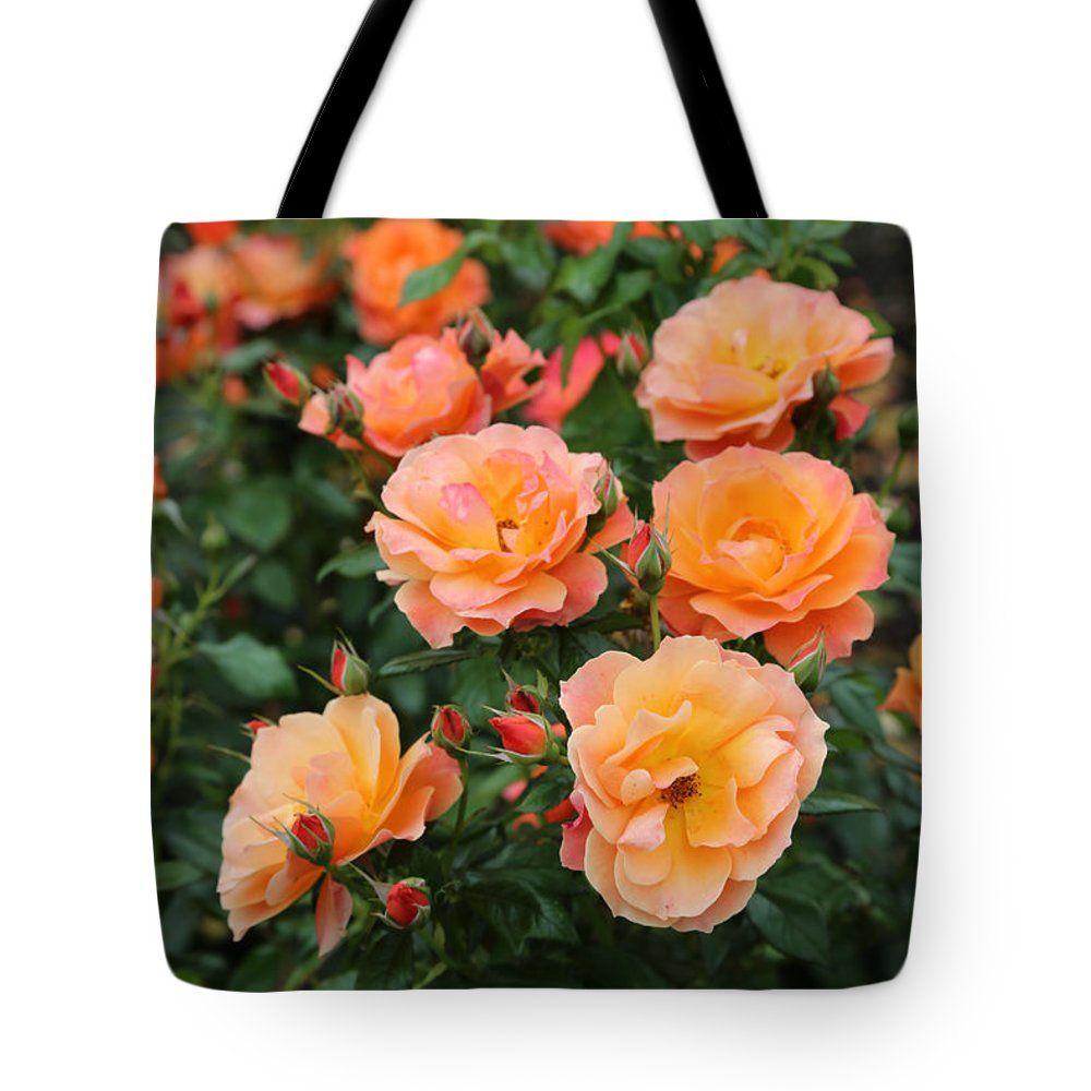 """Orange Roses Tote Bag 18"""" x 18"""" #rosestotebag #totebags #prettybags #orangeroses #roses #loveroses #carolgroenen"""