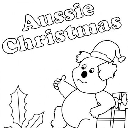 Australian Christmas Colouring In Pictures Google Search Christmas Coloring Sheets Christmas Colors Australia Colours