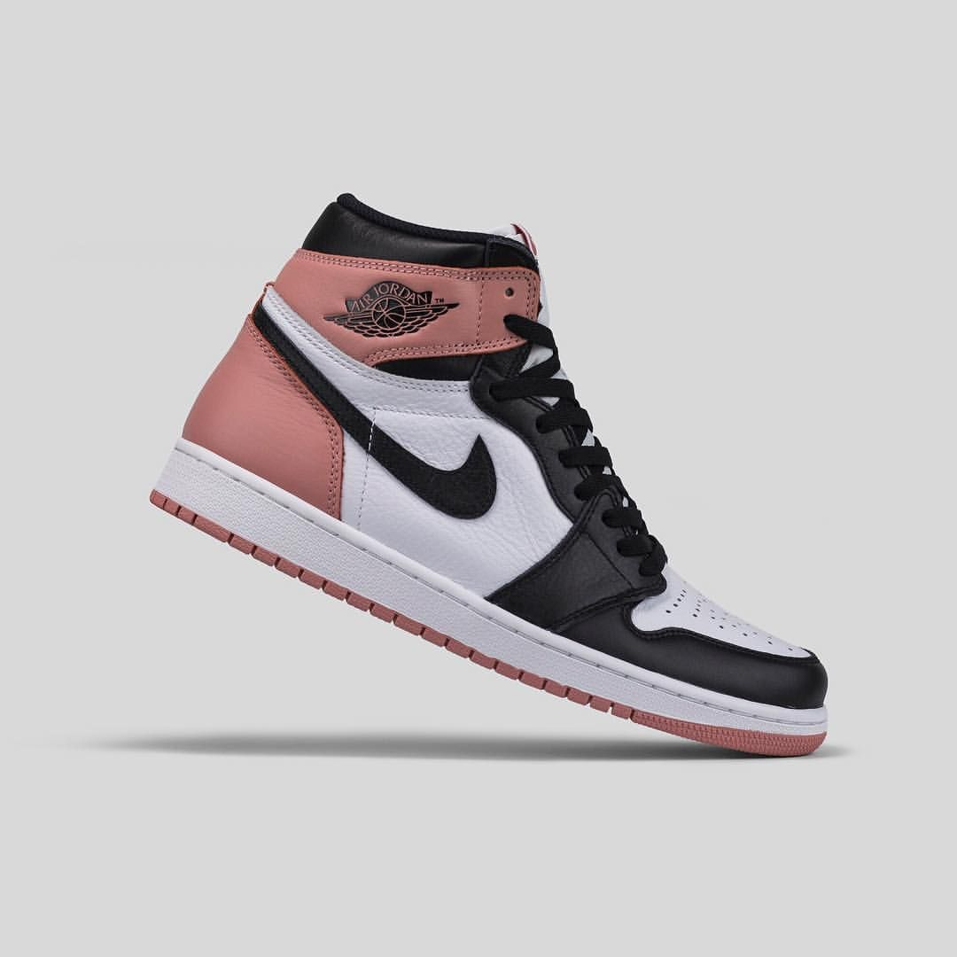 The Air Jordan 1 'Rust Pink' is almost entirely