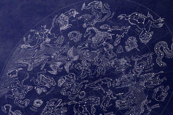 Sky Atlas 50 Constellations By Zizimarket On