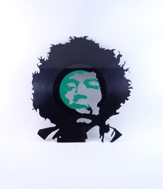 Jimi Hendrix Vinyl Record Silhouette Wall Art Cutout | Vinyl Record ...
