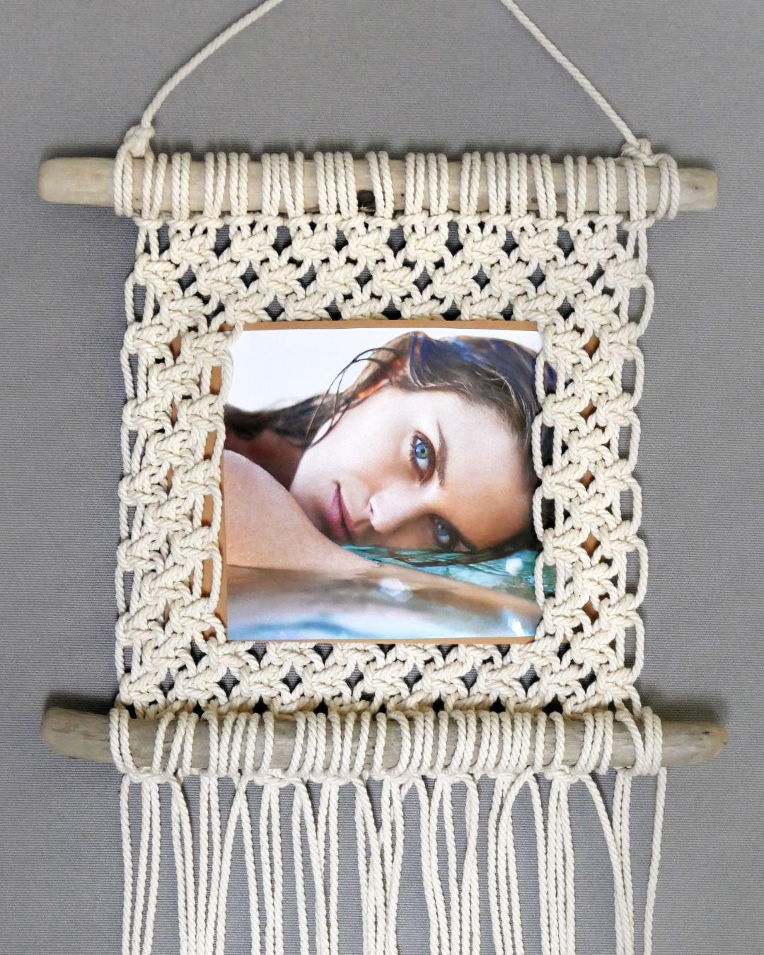 Easy Macrame Photo Frame Wall Hanging Tutorial   H