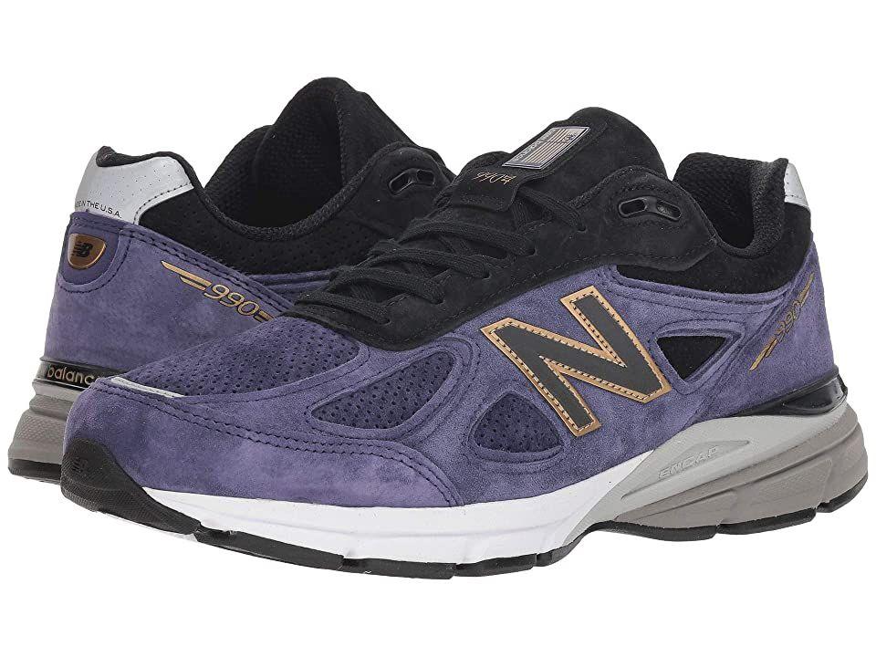 New Balance M990V4 (Black/Wild Indigo) Men's Shoes. An
