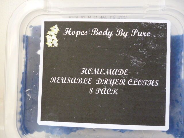Homemade/Homemade Natural Reusable Scented/UnscentedDryer Cloths/Sheets  8 pack  #HOPESBODYBYPURE $11.24