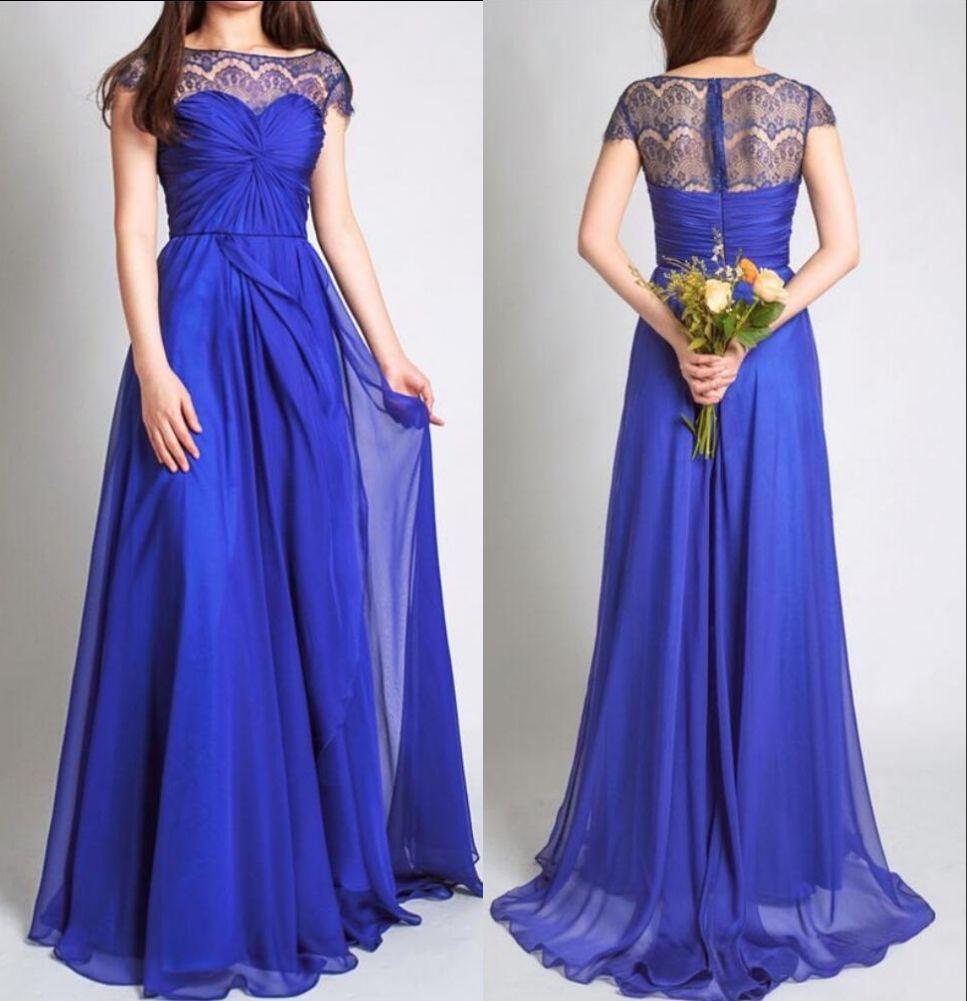 Royal Blue Long Modest Bridesmaid Dresses With Sleeves Lace Chiffo Bridesmaid Dresses With Sleeves Modest Bridesmaid Dresses Long Royal Blue Bridesmaid Dresses [ 1001 x 967 Pixel ]