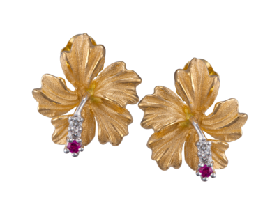 14k Yellow Gold Hibiscus Earrings Part Of Our Selection Of Earrings Include Statement Drop Stud Earrings And Much More Hibiscus 14k Yellow Gold Yellow Gold