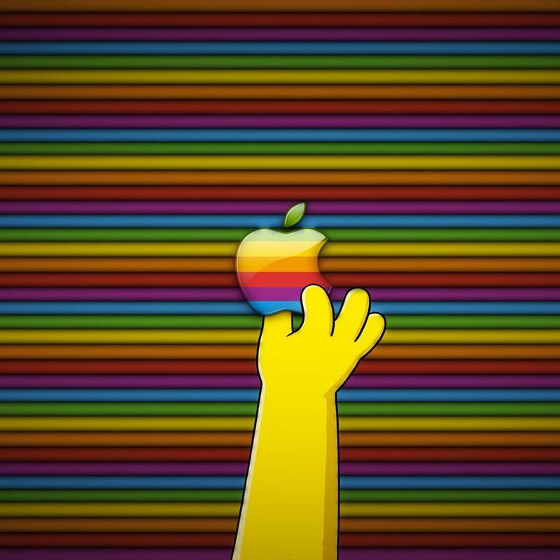 Homer Simpson Eating Apple Logo Google Da Ara Apple Wallpaper Apple Ipad Wallpaper Apple Logo