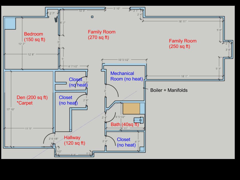 Hydronic Radiant Heat Retrofit On Uninsulated Concrete Slab Basement Heating Help The Wall Hydronic Radiant Heat Radiant Heat Concrete Slab