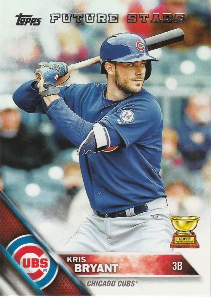 Details About Kris Bryant 2016 Topps Future Stars 350