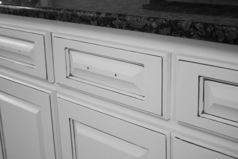 Img photo this photo was uploaded by kfddesigns find other img pictures and - Antique white cabinets with black glaze ...