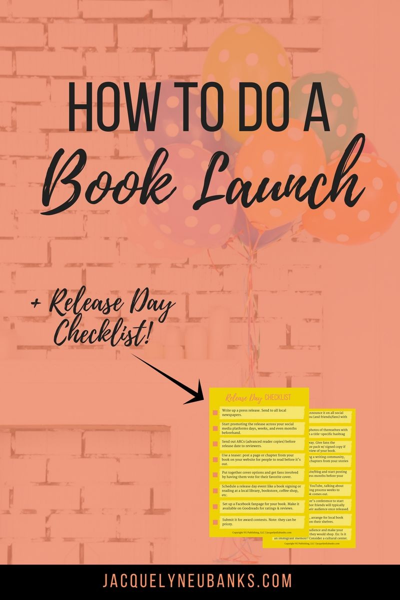 How to do a book launch release day checklist writing ideas how to do a book launch release day checklist malvernweather Image collections