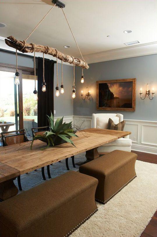 Rustic Design Ideas Deco Maison Luminaires Salle A Manger Idee Deco Interieur