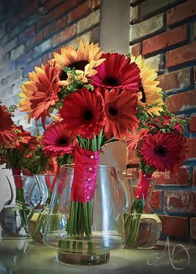 Fall Gerbera Daisy Bouquet sunflower gerbe...