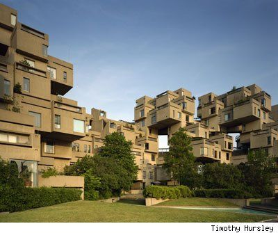 Habitat 67 – Canada  These playful apartments in Montreal feature a unique building block design.