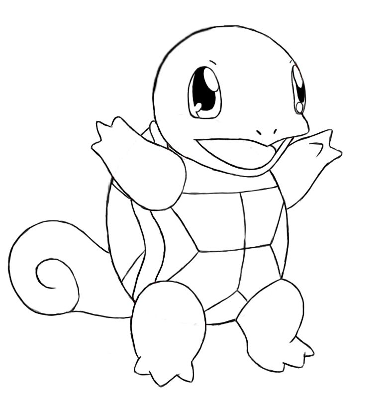 How To Draw Squirtle Draw Central Pokemon Coloring Pokemon Coloring Pages Pikachu Drawing