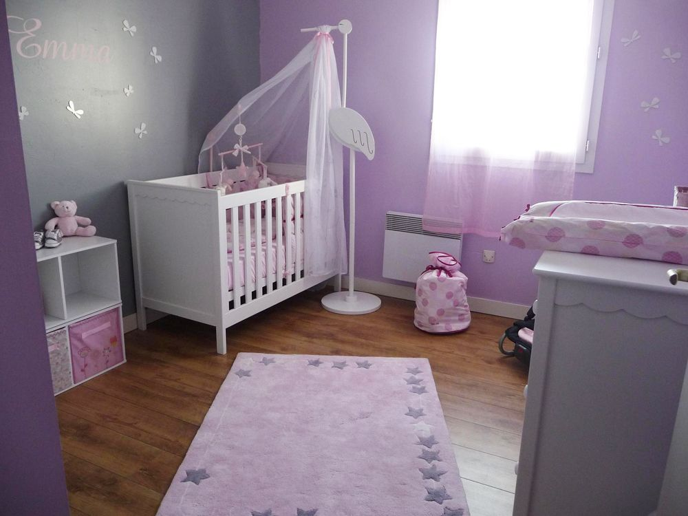 D co chambre b b fille pas cher d co chambre b b b b for Decoration chambre bebe fille photo