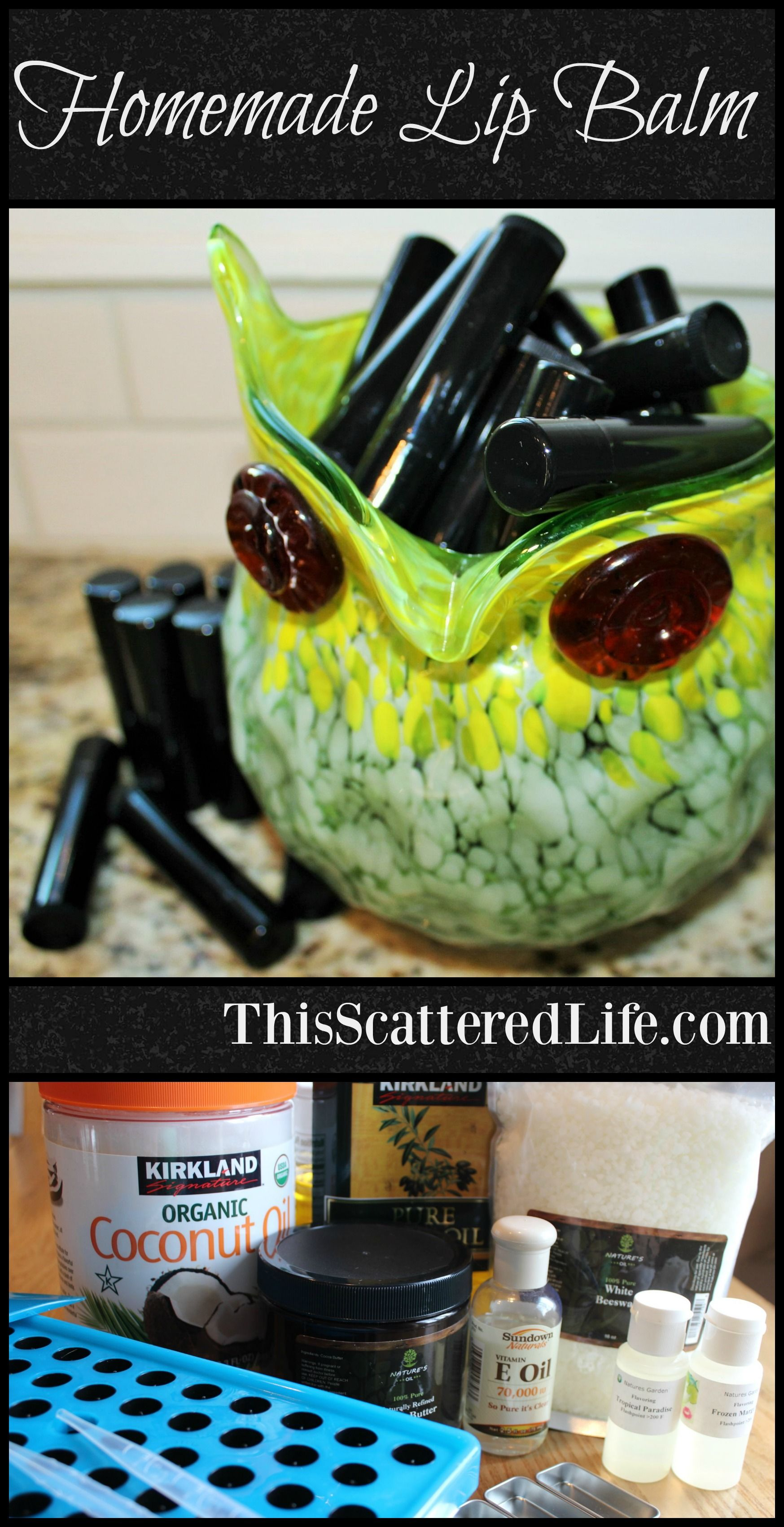 Homemade lip balm recipe this scattered life homemade