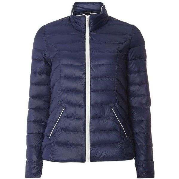 Dorothy Perkins Navy Quilted Pack-A-Jacket (€51) ❤ liked on Polyvore featuring outerwear, jackets, blue, navy jacket, navy quilted jackets, quilted jacket, blue quilted jacket and blue jackets
