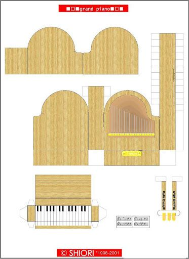 The Perfect Guide For Making A 3d Paper Grand Piano The