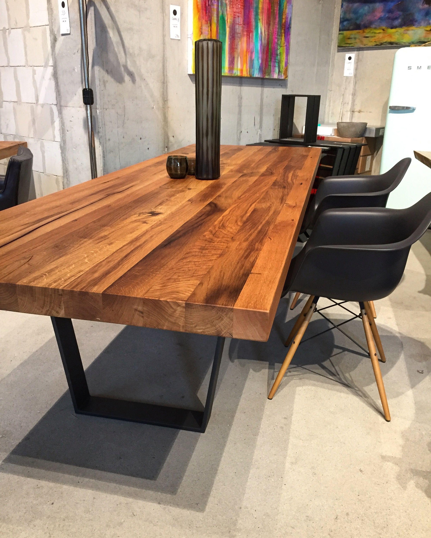 Esstisch aus Eichenholz Table Massivholztisch Holzwerk ...