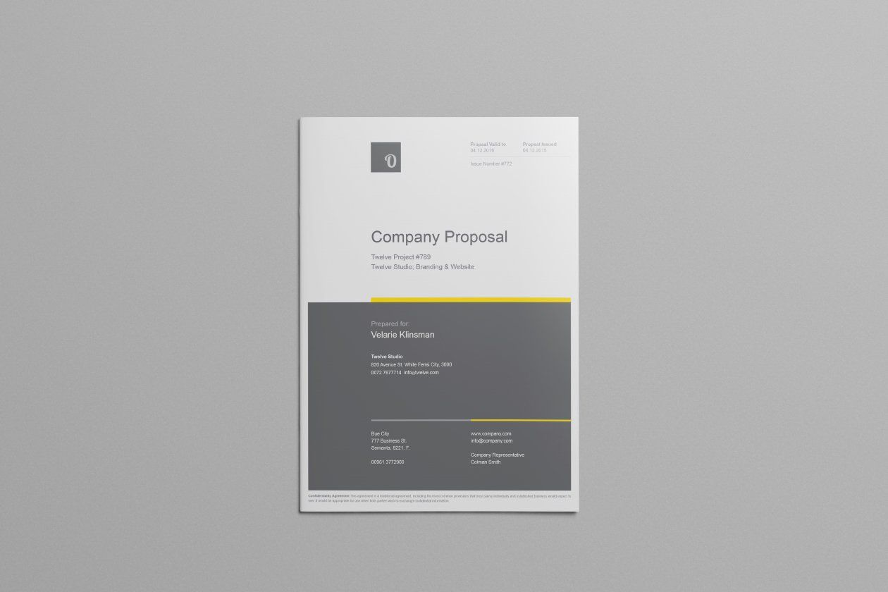 Free Company Proposal Template  Design    Proposal