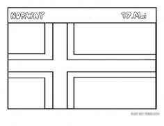 Free Printable Flag Of Norway Coloring Page For Kids Educational