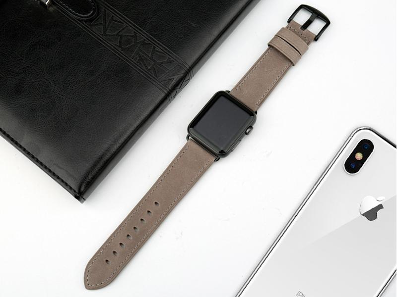 Apple Watch Leder Armband Echtleder Naturleder Handgefertigt Apple Watch Series 1 2 3 4 Genuine Leder Grau Armband Leder Armband Apple Watch Band