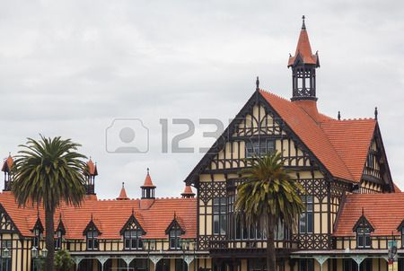 Half Timbered Elizabethan Mansion Housing Rotorua Museum On The ...