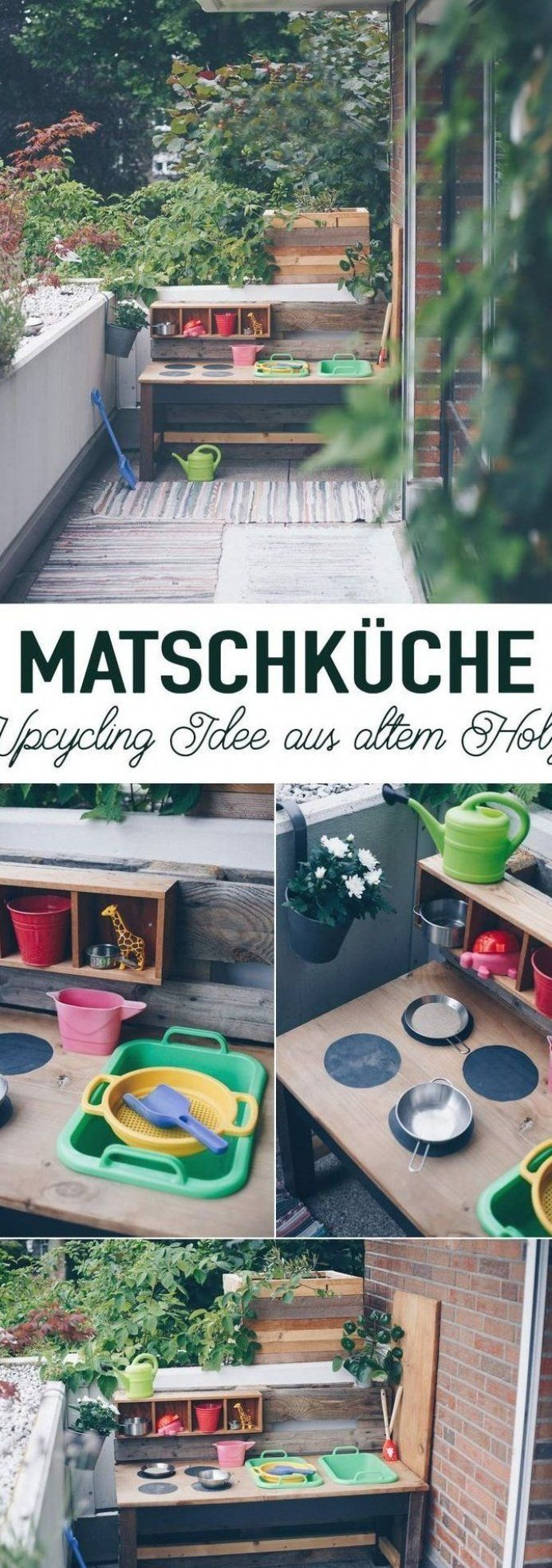 DIY Matschk che selber bauen - DIY f r Kinder - Upcycling ...