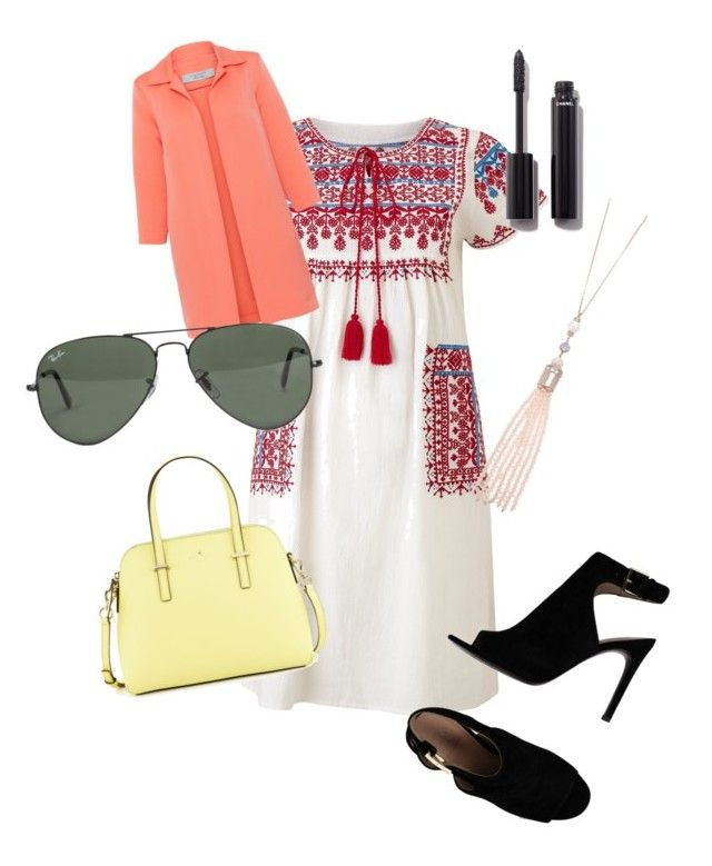 """""""Random"""" by brittklein ❤ liked on Polyvore featuring Star Mela, D.Exterior, Tory Burch, Kate Spade, Ray-Ban, Oasis and Chanel"""