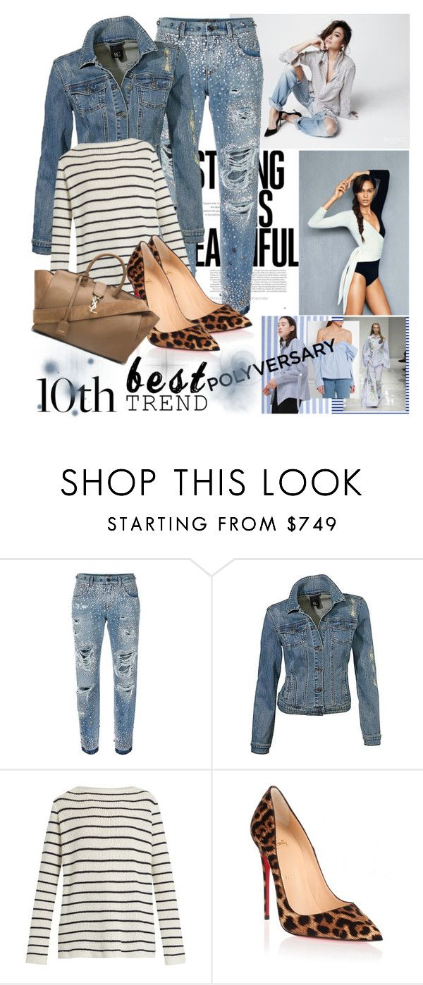 """Celebrate Our 10th Polyversary!"" by irinavsl ❤ liked on Polyvore featuring Dolce&Gabbana, The Row, Christian Louboutin, Yves Saint Laurent, polyversary and contestentry"