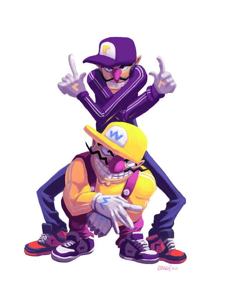 Game Portal Wario And Waluigiby Archaicephony Super Mario Art Super Mario Bros Mario Bros