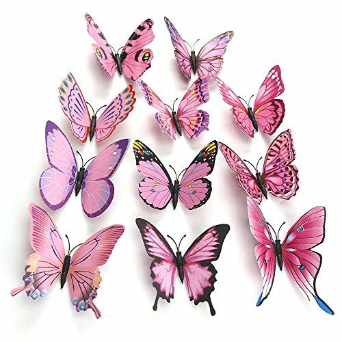Hdecor 48pcs 3d Butterfly Stickers Making Stickers Wall Stickers