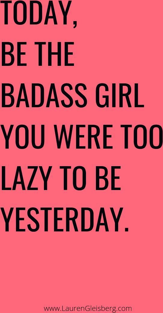 BEST MOTIVATIONAL & INSPIRATIONAL GYM / FITNESS QUOTES - today be the badass gir... - #badass #Fitne...