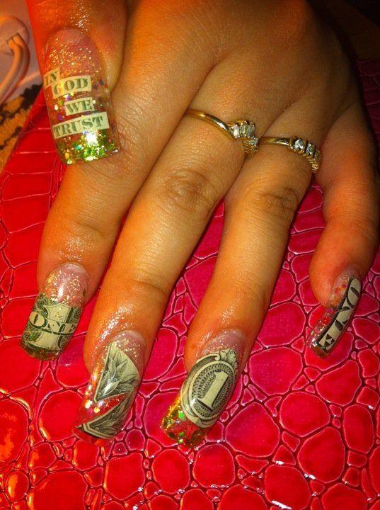 Money nails uas acrilicas pinterest money nails and nail money nails prinsesfo Gallery
