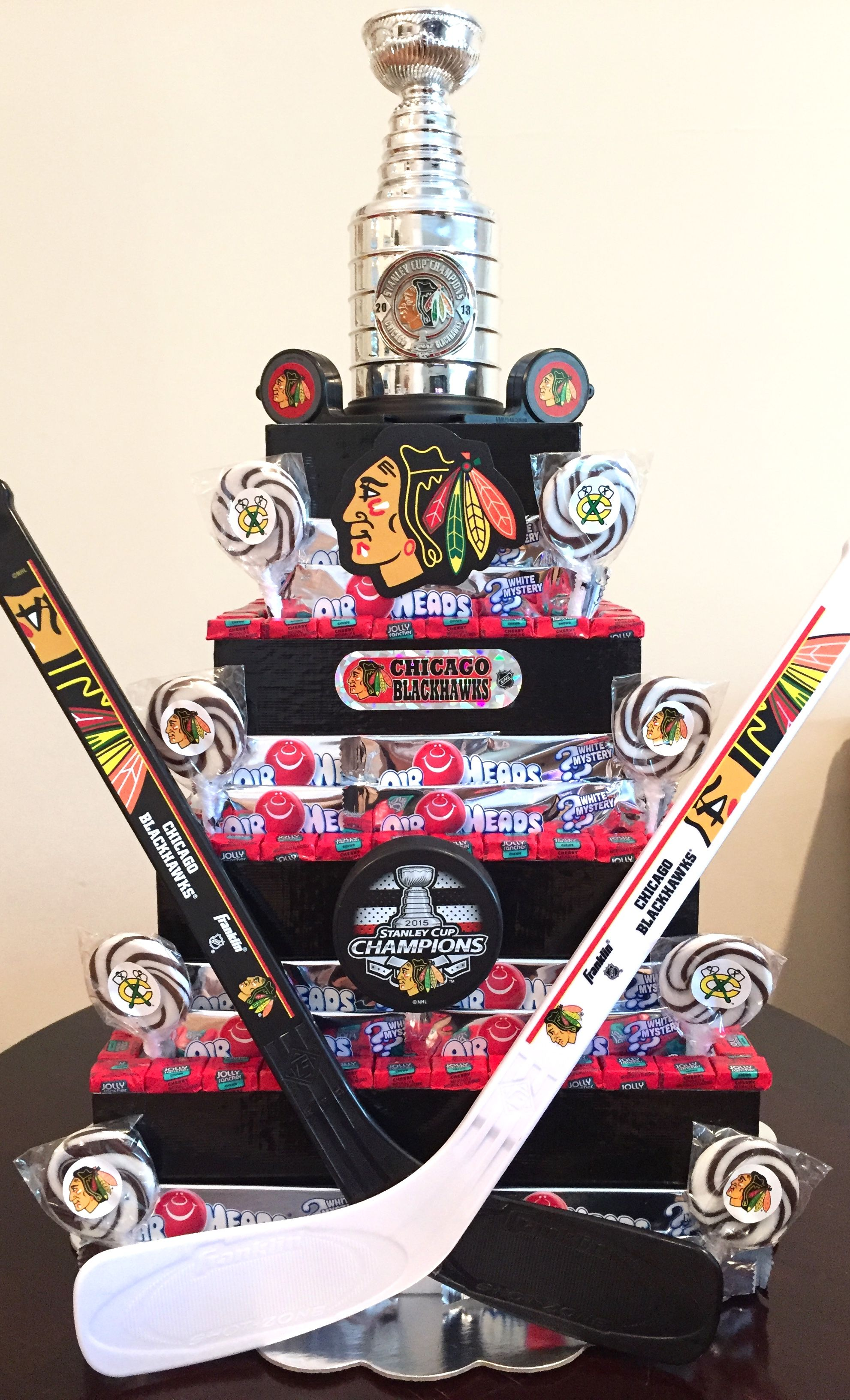 Chicago Blackhawks Party!   Candy Centerpieces by Nicole Fiss ...