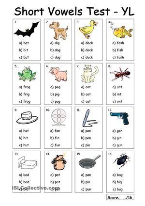 Free Preschool & Kindergarten Vowels Worksheets - Printable | K5 ...