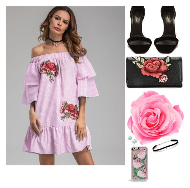 """rose gal"" by danifashionblog on Polyvore featuring Yves Saint Laurent, Glitzy Rocks, Carbon & Hyde and Zero Gravity"