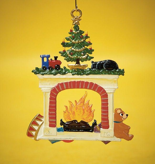 Cozy Fireplace Ornament Cozy Fireplace Ornaments Pewter Art