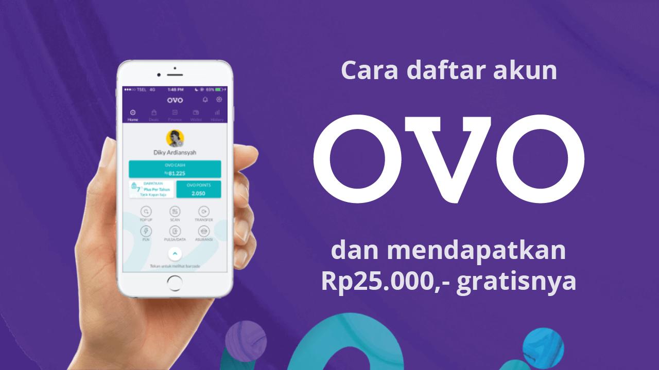 Cara Mendaftar Akun Ovo Beserta Cara Mendapatkan Rp25 000 Gratisnya Elektronik Kartu Aplikasi