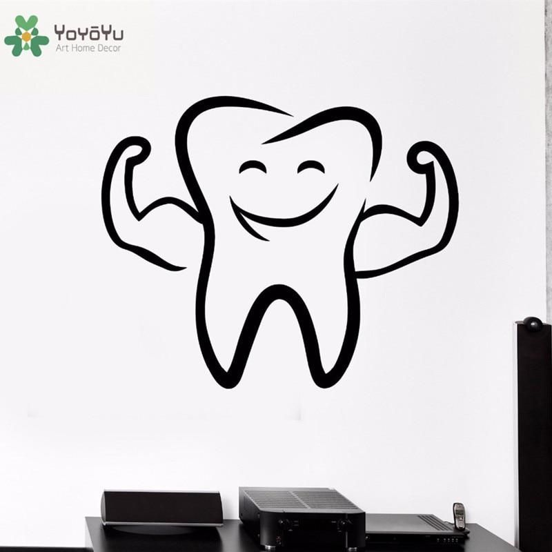 yoyoyu wall decal smile tooth pattern vinyl wall stickers on wall stickers for kids id=35199