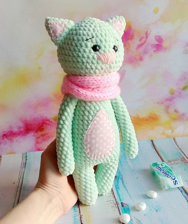 Вязаная игрушка котик Мякиш амигуруми. Авторское описание ...