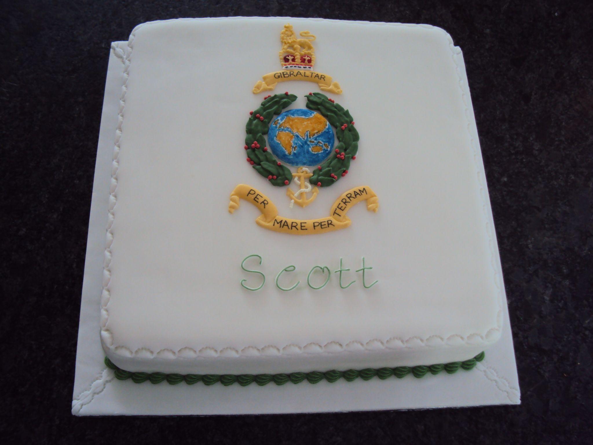 Royal Marines Globe and Laurel cake Cake, Cake