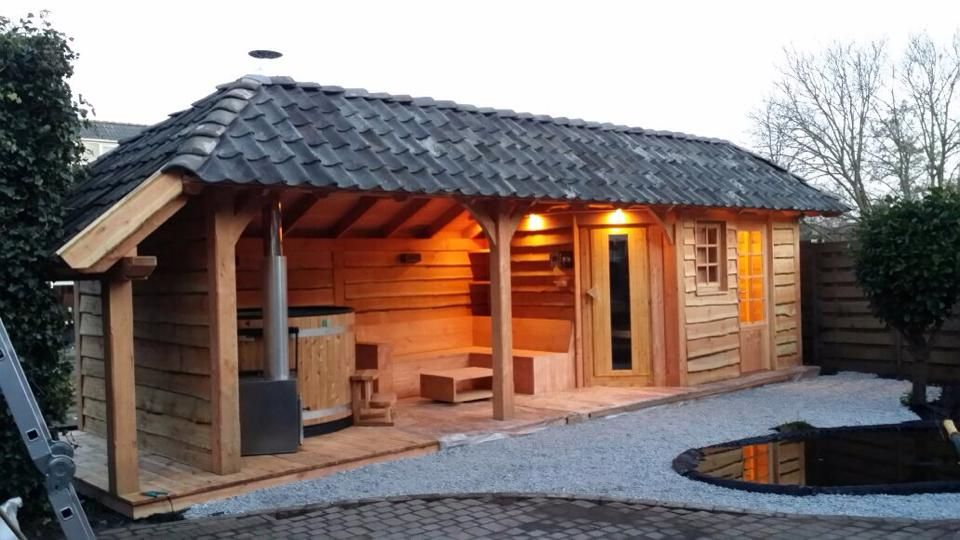 Wellness Hottub En Sauna Buitenverblijf Nelis Fpepping Nl Bubbelbad Tuinhuisje Tuinhuizen Buitenleven