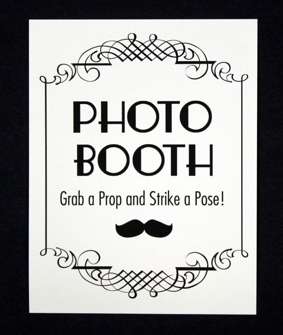 Free Printable Photo Booth Sign Templates Strike A Pose Prop Signs Wedding Vintage