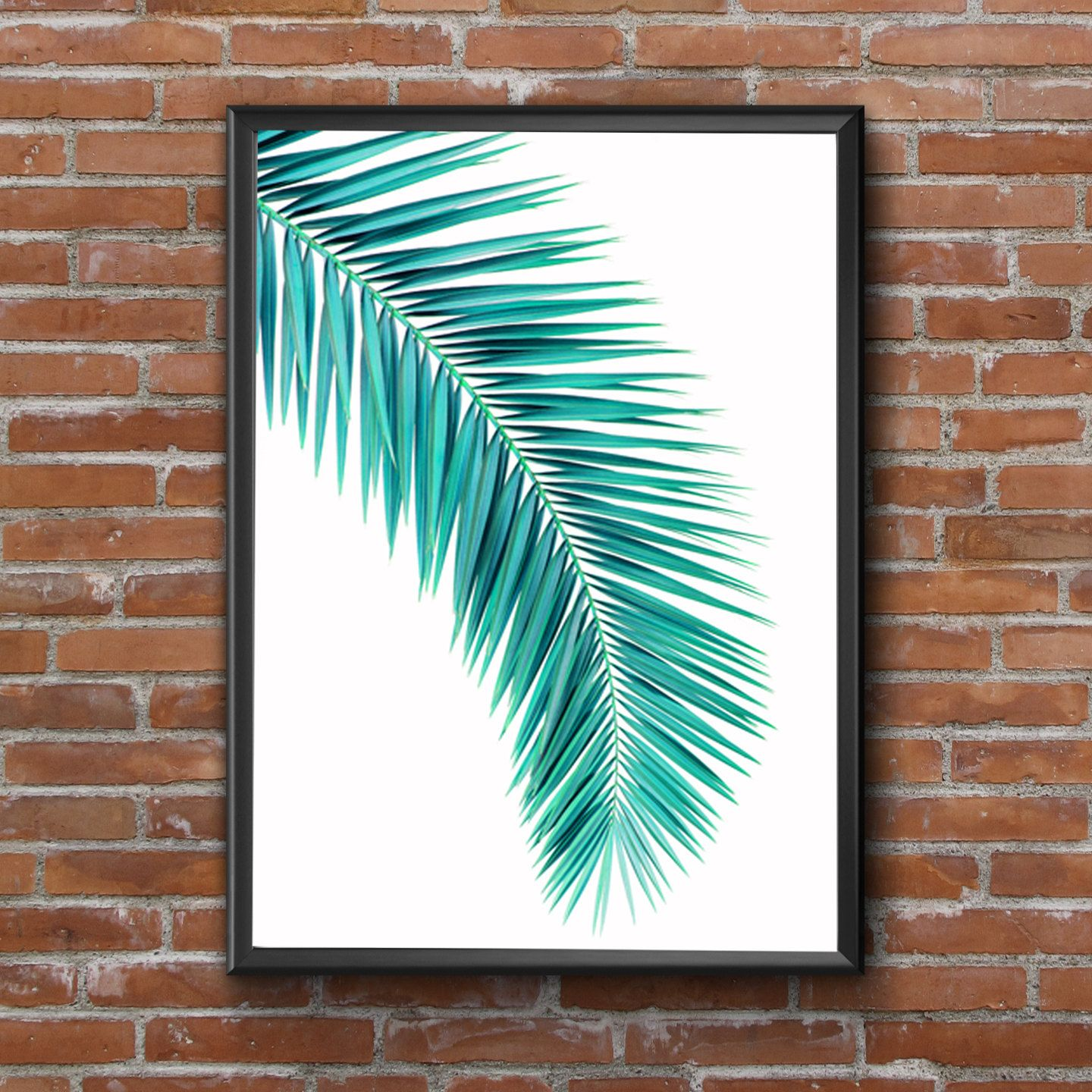 Palm Tree Leaf Print Botanical Print Leaf Poster Palm Tree