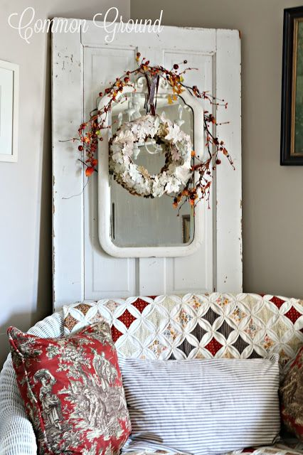 common ground : Painted Leaf Fall Wreath