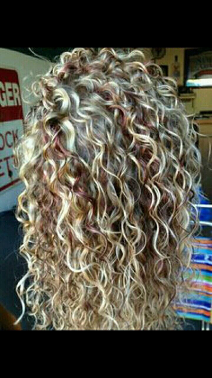 Blond Cute Curl Hair Hair Styles Permed Hairstyles
