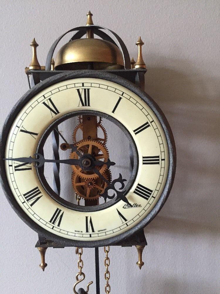 Vintage Pendulum German Haller Wall Clock Tempus Fugit Clock Wall Clock Skeleton Wall Clock